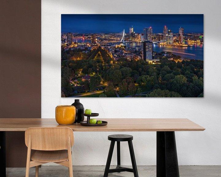 Sfeerimpressie: Rotterdam panorama | Kop van Zuid | Euromast van Rob de Voogd / zzapback