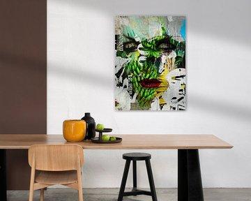 The face and green bananas von Gabi Hampe