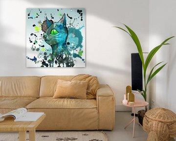 Wilde blaue Schmutzkatze von Bianca Wisseloo