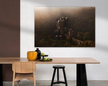 Spookachtig Burg Eltz kasteel in de mist van iPics Photography