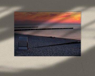 Sonnenuntergang an der Ostsee von Andreas Müller
