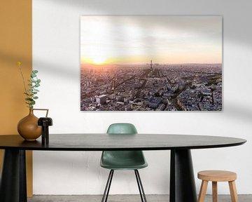 Paris mit dem Eiffelturm bei Sonnenuntergang von Werner Dieterich