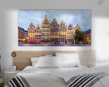 Zunfthäuser am Grote Markt in Antwerpen von Werner Dieterich
