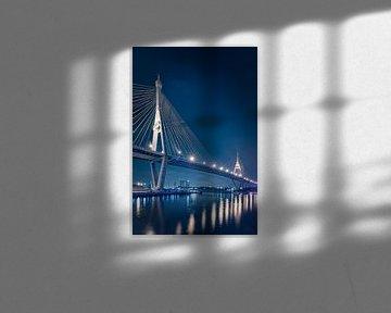 De Bhumibol brug in Bangkok II van Peter Korevaar