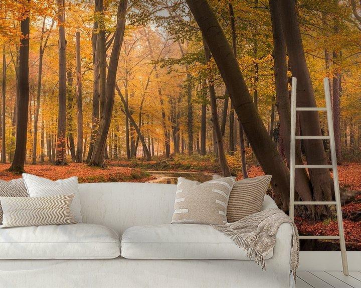 Sfeerimpressie behang: Herfst in Voorstonden van Mario Visser