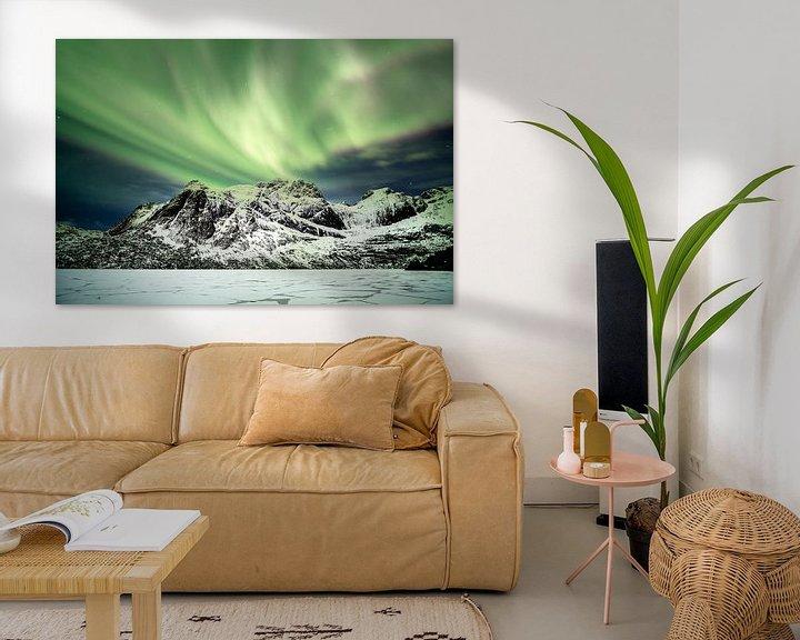 Sfeerimpressie: Northern lights above Nusfjord van Ab Wubben
