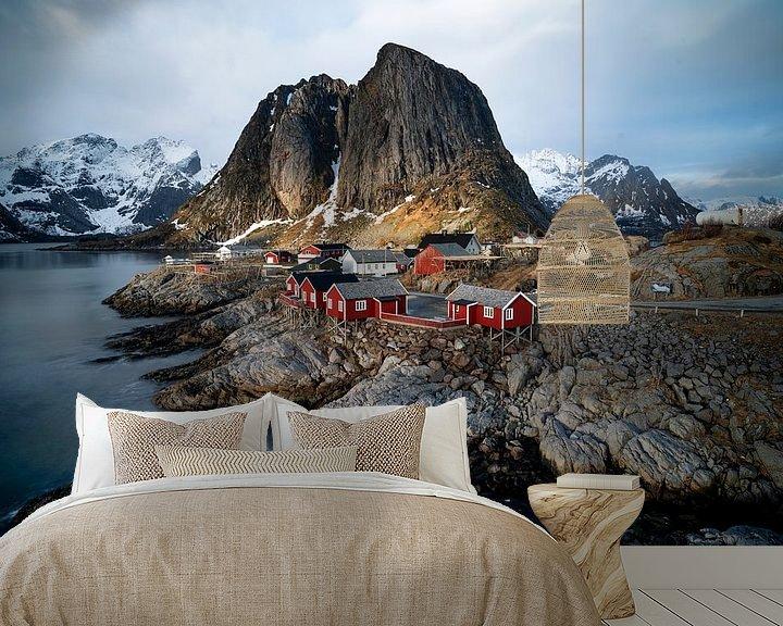 Sfeerimpressie behang: Hamnøy, Norway Lofoten van Ab Wubben