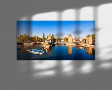 De Ponts Couverts in het Gerberviertel in Straatsburg van Werner Dieterich