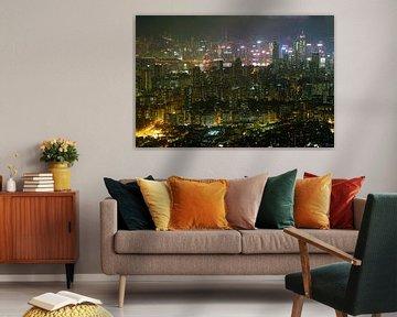 Hong Kong Skyline from Kowloon van Andrew Chang