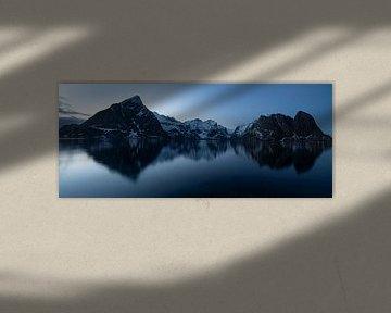 Blue hour, Nusfjord Lofoten Norway near Hamnøy sur Ab Wubben