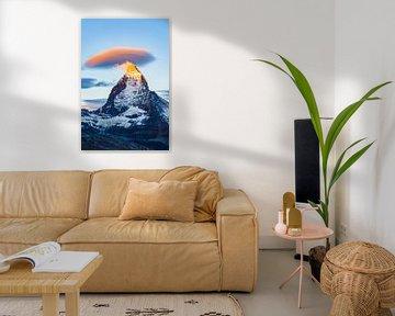 Matterhorn bij zonsopgang van Werner Dieterich