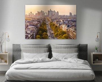 Paris mit den Hochhäusern von La Défense von Werner Dieterich