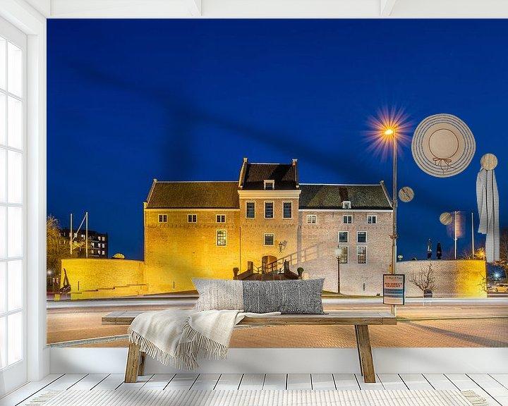 Beispiel fototapete: Schloss Woerden am Abend von John Verbruggen