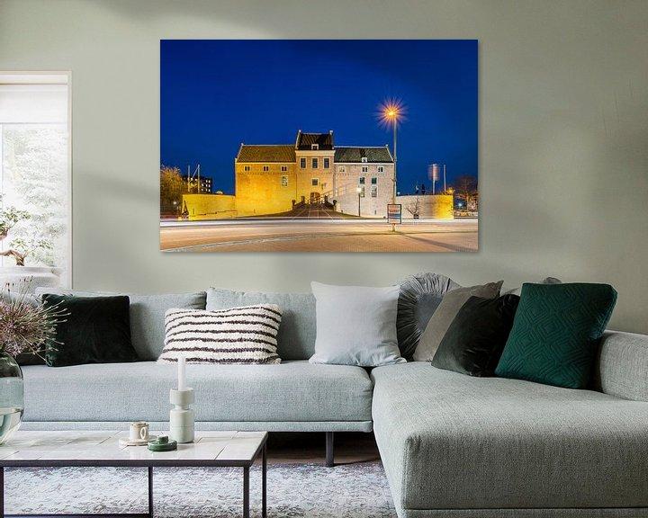 Beispiel: Schloss Woerden am Abend von John Verbruggen