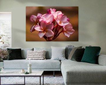 Roze plumeria von Monique Simons