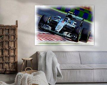 Nico Rosberg - Formel-1-Weltmeister 2016 van Jean-Louis Glineur alias DeVerviers