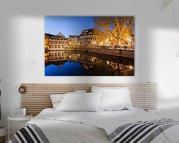 Petite France à Strasbourg la nuit sur Werner Dieterich