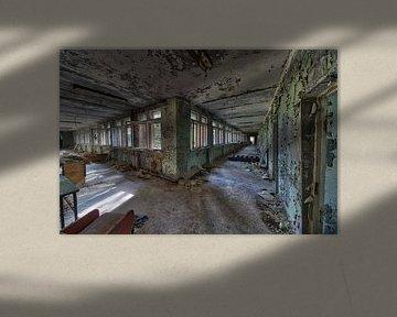 Chernobyl verlaten school van Sander Laurey