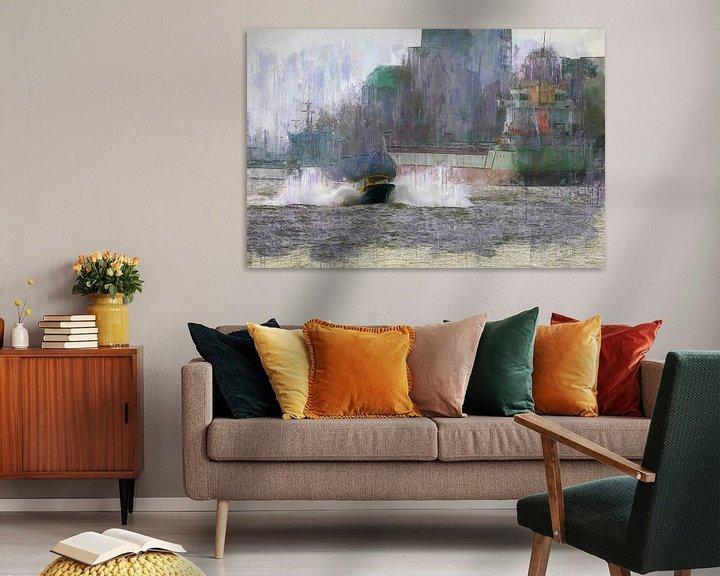 Beispiel: Wassertaxi Rotterdam von Arjen Roos