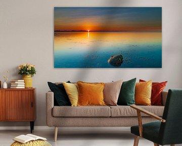 Zonsondergang bij het water van Anne-Marie De Vos