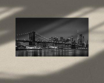 Manhattan Abend Skyline New York von Adelheid Smitt