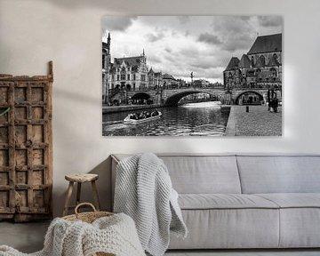 Sint-Michiels-Brücke, Gent Belgien von Ingrid Aanen