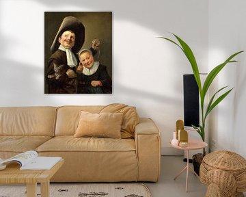 Junge und ein Mädchen mit Katze und Aal, Judith Leyster
