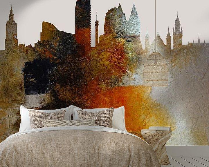 Sfeerimpressie behang: Den Haag in a nutshell van Harry Hadders