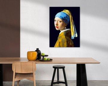 Mädchen mit der Perle (digital restauriert), Johannes Vermeer