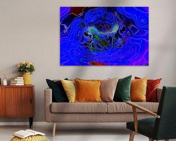 Frog in Blue von De Rover