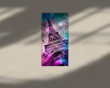 Pop Art Eiffelturm | Panorama von Melanie Viola