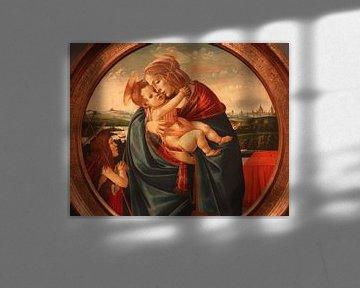 Botticelli madonna en kind met Johannes de Doper
