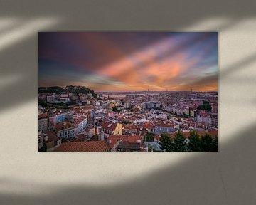 Coucher de soleil à Lisbonne