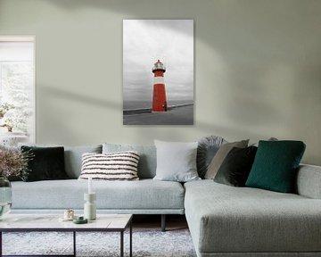 Lighthouse in Westkappelle, the Netherlands von Joyce Loffeld
