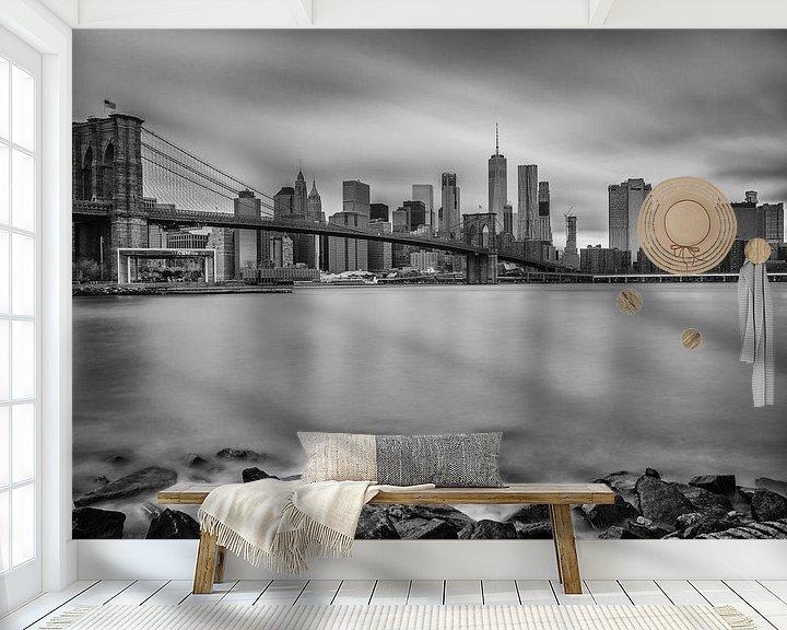 Sfeerimpressie behang: Brooklyn Bridge van Jeroen de Jongh
