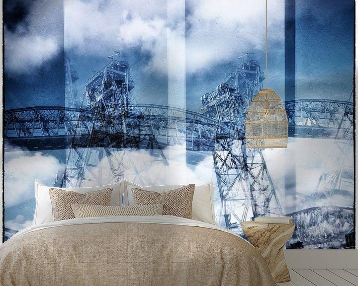 Sfeerimpressie behang: rotterdam bruggen de hef lomography analoog fotografie Dutch bridges van MadebyGreet