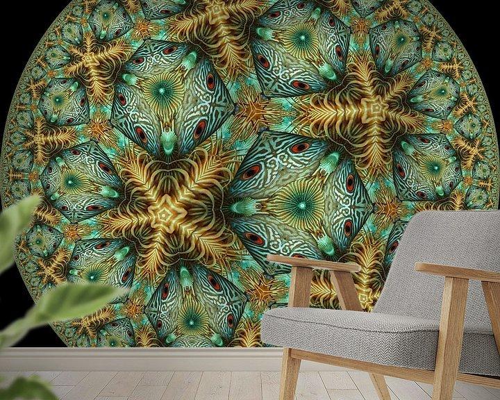 Sfeerimpressie behang: koraal van Tis Veugen