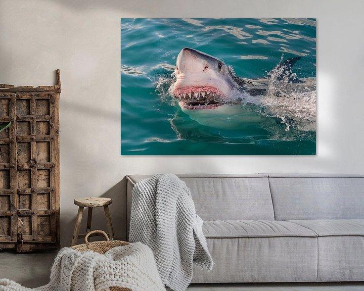 Sfeerimpressie: Great White Shark (Witte Haai) van Harry Eggens