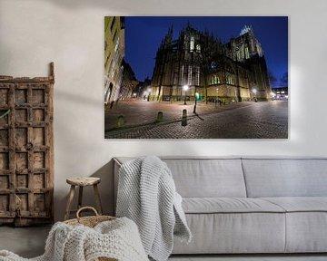 De Domkerk in Utrecht aan de achterzijde von Donker Utrecht