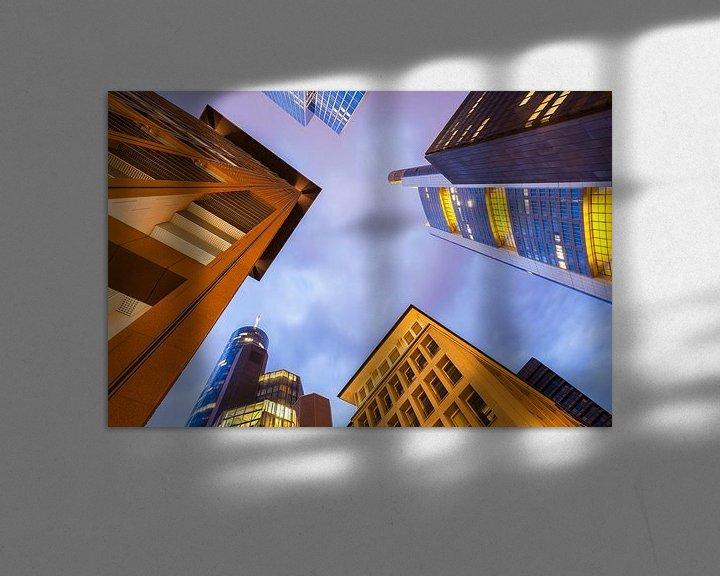 Beispiel: Bankenviertel in Frankfurt bei Nacht von Werner Dieterich