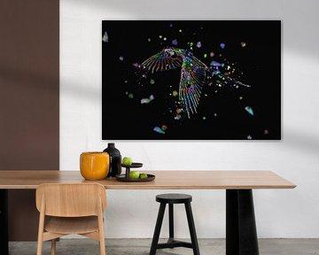 La mosaique de l'Ara en couleur van Catherine Fortin
