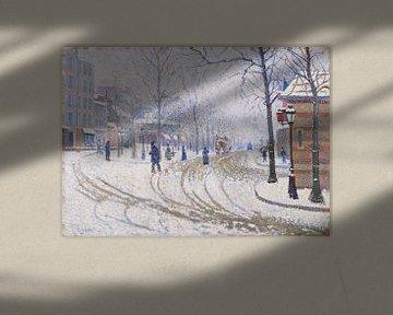 Boulevard de Clichy, der Schnee, Paul Signac