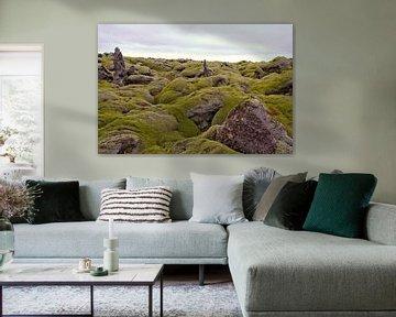 Neverending lavafiels on Iceland van Karin Hendriks Fotografie