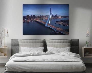 Erasmusbrug - Skyline Rotterdam sur Vincent Fennis