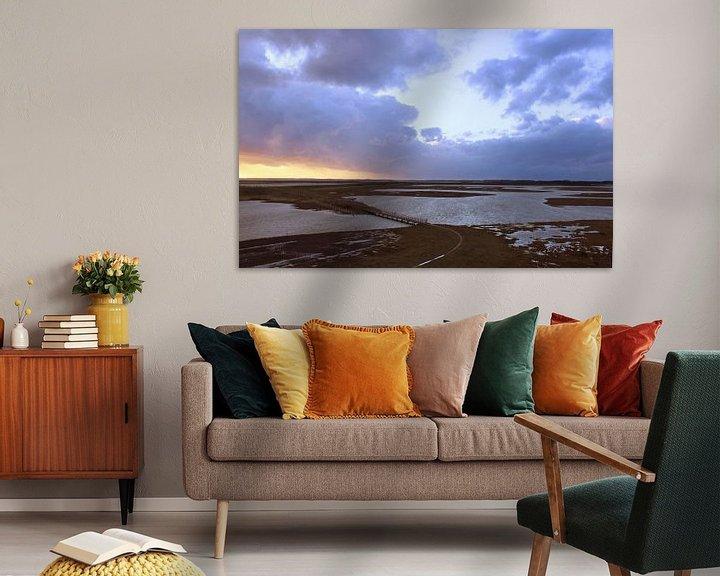 Sfeerimpressie: zonsondergang bij Moriaanshoofd. van Arjo Nieuwkoop
