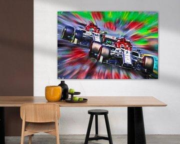 Teammates 2019 -  Räikkönen & Giovinazzi von Jean-Louis Glineur alias DeVerviers