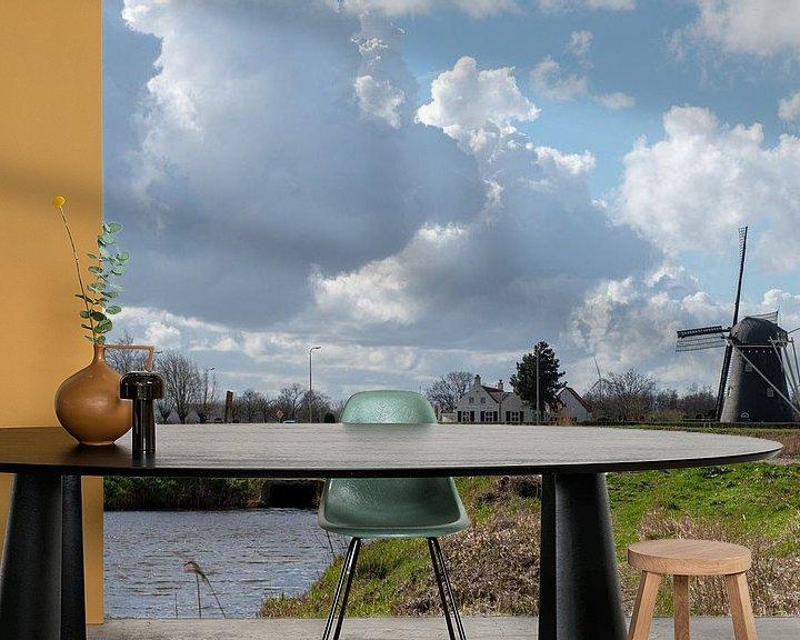 Sfeerimpressie behang: Zwartenbergse Molen van Ingrid Aanen