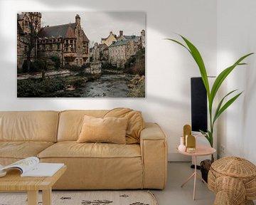 Dean Village in Old Town Edinburgh von Manon Visser