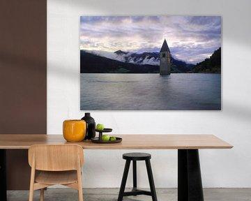 Kirchturm im Reschensee Südtirol von Patrick Lohmüller