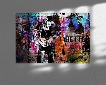 Grunge wall no. 3 von PictureWork - Digital artist